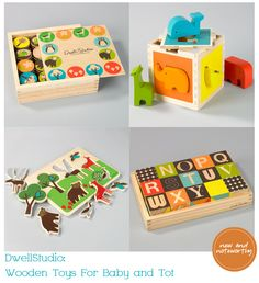 Dwell Studio wooden toys {via Chic and Cheap Nursery}