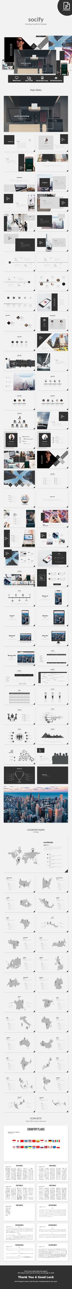 Socify - Marketing PowerPoint Template #powerpoint #template #design
