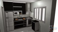 Resultado de imagem para projeto de cozinha pequena linear