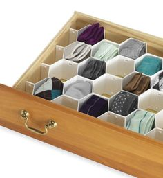 you can organize socks, underwear, anything... they have one at bed bath and beyond for $8 =) totally going to get one!!!!!