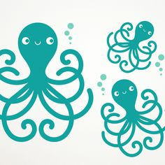 Octopus Family Vinyl Wall Decal Stickers $30