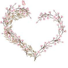 H817 (24) - #cherryblossom #H817 Wreath Watercolor, Watercolor Flowers, Watercolor Art, Frame Floral, Flower Frame, Framed Wallpaper, Love Wallpaper, Paper Flower Wreaths, Paper Flowers