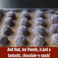 """Swedish Chocolate Balls (Chokladbollar) """"They're easy to do, there's no baking required, and mixing the """"dough"""" together makes for a fun activity. Swedish Cuisine, Swedish Dishes, Swedish Recipes, Sweet Recipes, Swedish Christmas Food, Christmas Desserts, Christmas Baking, Chocolate Balls Recipe, Essen"""