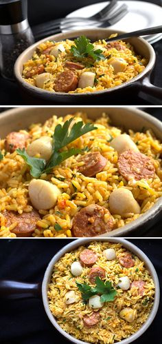 Easy Scallops &  Chorizo Paella - Erren's Kitchen. This recipe is great for when you crave the taste of the med, but don't have all day to cook.