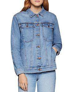 BCBGENERATION BENNY OVERSIZE DENIM JACKET. #bcbgeneration #cloth Oversized Denim Jacket, Jackets For Women, Clothes For Women, Jackets Online, Bcbgeneration, World Of Fashion, Luxury Branding, Cotton Spandex, Model
