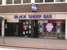 The site of Black Sheep Bar Black Sheep Bar, Croydon London, England, English, British, United Kingdom