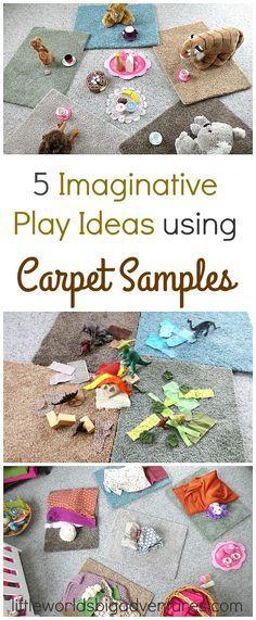 Imaginative Play Ideas Using Carpet Samples | Little Worlds Big Adventures