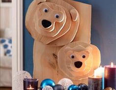 Winter deco bears made of wood Source by The post Winter wood deco bears · Guide Home and Garden appeared first on Wooden. Wooden Crafts, Diy And Crafts, Image Deco, Wood Animal, Wood Scraps, Wood Creations, Diy Wood Projects, Woodworking Crafts, Diy Art