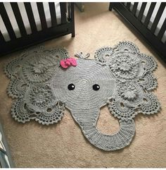 Crochet Patterns baby rug with hand-woven elephant face. decoration for baby room. woven with cotton - baby rug with hand-woven elephant face. It is available for girl and boy. for baby room. woven with cotton Crochet Mignon, Animal Rug, Cute Crochet, Beautiful Crochet, Crochet Rabbit, Crochet Car, Crochet Animals, Crochet Birds, Throw Rugs