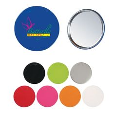 Custom printed round hand mirrors is the small and convenient mirror that can fit into the purse, pocket or bags. This round hand mirror is available in several colors and you can select the one that meets your visual approval.