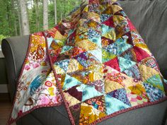 Triangles with Gayle  AKA Anna Maria Horner Quilt by CoraQuilts ~ MrsCarla, via Flickr