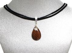 Natural Gemstone Iron Tiger's Eye Teardrop Pendant Necklace Healing Fengshui USA #Handmade #Pendant #Healing #Protection #Luck