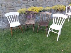 Some more of our lovely chairs ready for hire from birdcageanddragonflies@gmail.com