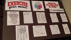 """SRP idea. """"Exercise Your Mind"""" station."""