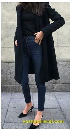 Black Casual Outfits, Office Outfits Women Casual, Chic Winter Outfits, Casual Dress Outfits, Outfit Jeans, Winter Outfits For Work, Business Casual Outfits, Casual Jeans, Mode Outfits