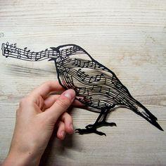 Bird of Song papercutting by Silver Crane silver-crane.com