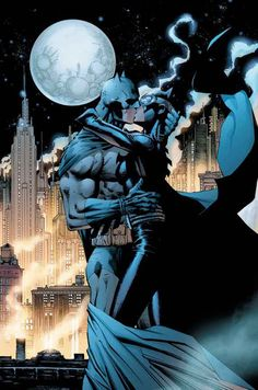 Jim Lee SIGNED Kissing the Knight Batman DC Giclee on Paper Limited Ed of 250