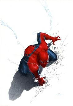 Spider-man Anniversary edition (Marvel Italia) By Gabriele Dell'Otto #Comics #Illustration #Drawing