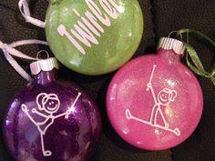 Baton Twirler Christmas Ornament