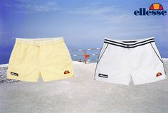 The Tortoreto in white and yellow...oozing summer tennis style #ellesseheritage #summer #style