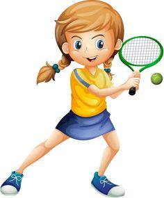 "Photo from album ""Теннис"" on Yandex. Theme Sport, 4 Kids, Children, Sports Clips, School Clipart, Good Day Song, Cartoon Pics, Girl Cartoon, Kids Sports"