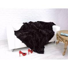 Real lambskin fur throw blanket Fur Throw, Shag Rug, Blanket, Luxury, Dark Brown, Decor, Shaggy Rug, Decoration, Blankets