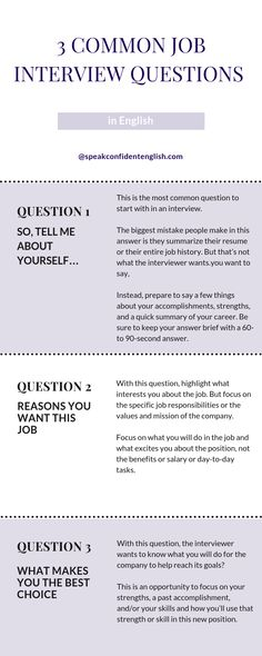 10 Common Job Interview Questions in English You Need to Know Job Interviews in English. Get my full lesson on 10 Common Questions You Will Be Asked in a Job Interview. Job Interview Preparation, Interview Skills, Job Interview Tips, Interview Dress, Questions In English, This Or That Questions, Interview Questions For Employers, Commonly Asked Interview Questions, Management Interview Questions
