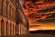 Burning Sky Over Versailles Palace by DinosaursAreNotDead, via Flickr