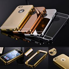 Luxury Aluminum Ultra-Slim Mirror Metal Case Cover for Apple iPhone Models