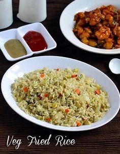 Chitra's Food Book: Veg Fried Rice Recipe In Rice Cooker(Indian)-Sunda...