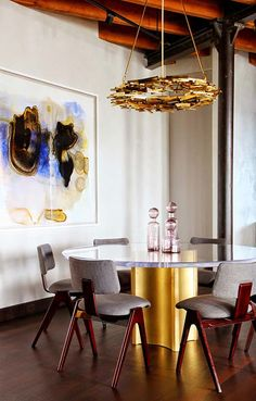 gold details always add an elegant touch to any interior setting