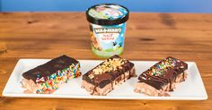 With layers of cookie dough, brownie, and Ben & Jerry's iconic Half Baked ice cream, these are sure to be a hit at your next get-together.