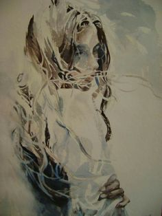 Boyana Petkova Watercolor, Fictional Characters, Paintings, Gray, Artists, Home, Pen And Wash, Watercolor Painting, Paint