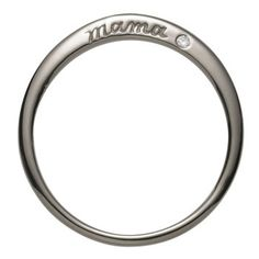 """Sterling Silver Mama Ring. This finely proportioned ring is engraved with the word """"mama"""" on one side and set with a diamond on the other. $153.00"""