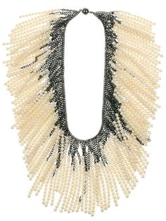 Chain and Pearl Necklace from Melanie Georgacopoulos