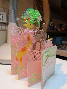 2/20/2012; Chris at 'Calla Lily Studio' Blog Shower Cascading Card! using Sizzix, SU, Martha Stewart and Memory Box dies