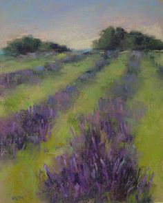 'Lavender Field #2' 8x10 pastel I had a visitor to my studio today all the way from North Dakota! ...