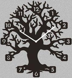 تصميم ساعة مشغولة علي خشب الأبلكاج ( الأركت )