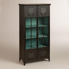 One of my favorite discoveries at WorldMarket.com: Kiley Metal Locker Cabinet (for Bobby's dresser)