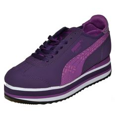 1ce3ac66487 PUMA Roma Slim Stacked Camo Grape Women s Shoes Size Trainers Sneakers -  MyCraze  puma