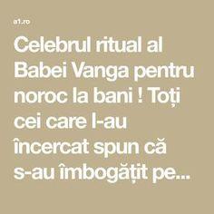 Celebrul ritual al Babei Vanga pentru noroc la bani ! Toți cei care l-au încercat spun că s-au îmbogățit peste noapte! | Lifestyle a1.ro Baba Vanga, Noroc, Ayurveda, Remedies, Projects To Try, Health, Paranormal, Chakras, Feng Shui
