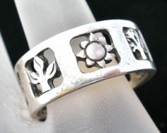 Vintage Sterling Silver James Avery Ring Four Seasons Size 8 5 Signed Band | eBay