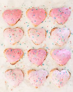 Homemade Heart Pop Tarts for Valentine's Day