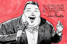 Portrait of John Pinette for Cobb's Comedy Club by Ben Walker Storey