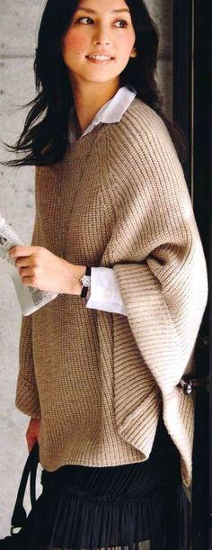 Free pattern knitting vest - Patrón para chaleco tejido en dos ...