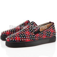 Semelle rouge Roller - Spikes hommes Flat Tartan chaussures rouge(China (Mainland))