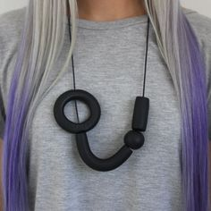 Side Ring Necklace by Another Human Design | http://adornmilk.com