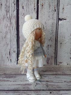Snow doll Home doll Tilda doll Art doll by AnnKirillartPlace