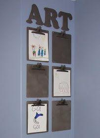 Playroom Wall - kids art