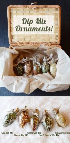 DIY Gifts for Your Parents | Cool and Easy Homemade Gift Ideas That Mom and Dad Will Love | Creative Christmas Gifts for Parents With Step by Step Instructions | Crafts and DIY Projects by DIY JOY  |  Dip-Mix-Ornaments  | http://diyjoy.com/diy-gifts-for-mom-dad-parents